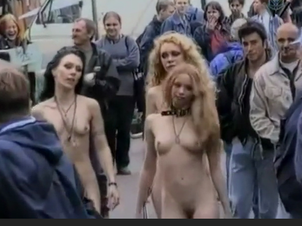 Sexy bitch naked on the streets