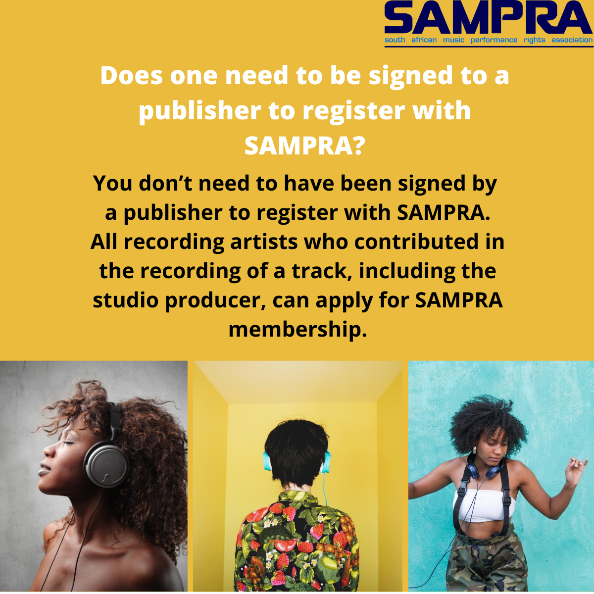 How to register music in south africa