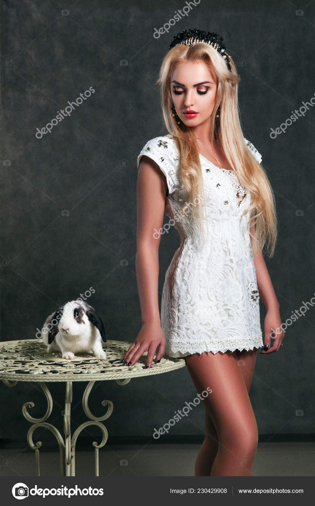 Very young bunny models